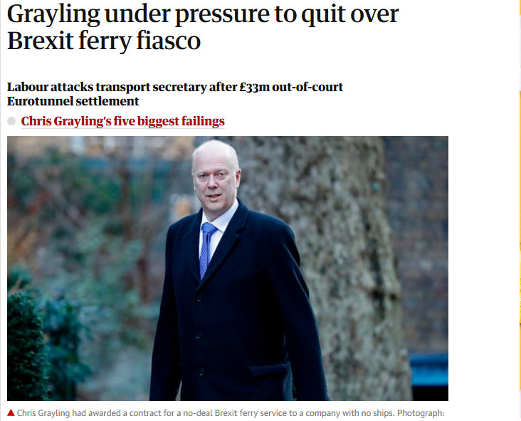 Chris Grayling ferry contract