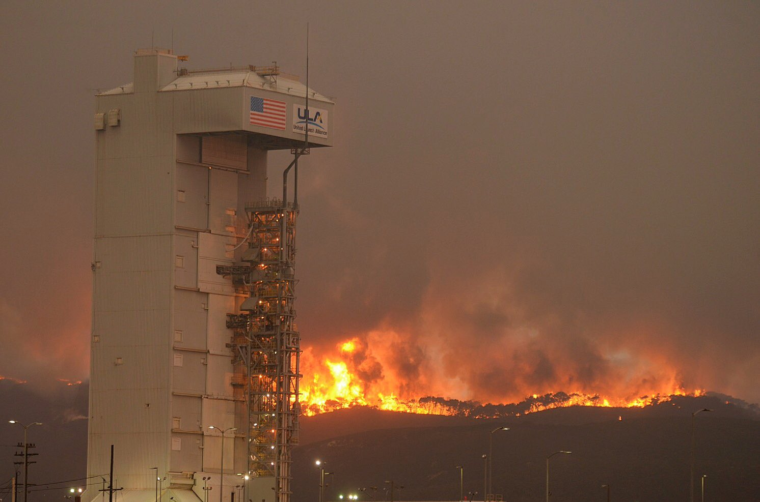 Vandenberg Air Force Base Fire